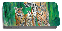 Dawn Patrol- Painting  Portable Battery Charger by Veronica Rickard