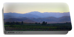 Dawn View Of The Sierras Portable Battery Charger by Timothy Bulone