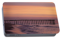Portable Battery Charger featuring the photograph Dawns Purple Waters by Robert Banach