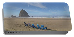 Day At Haystack Rock Portable Battery Charger
