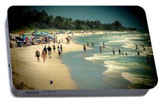 Portable Battery Charger featuring the photograph Day At The Beach by Rosalie Scanlon