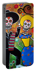 Day Of The Dead Bailar Portable Battery Charger by Pristine Cartera Turkus