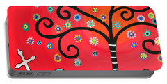 Day Of The Dead Cemetery Portable Battery Charger
