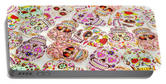 Day Of The Dead Colors Portable Battery Charger