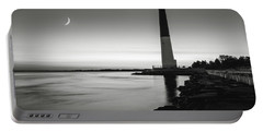 Daybreak At Barnegat, Black And White Portable Battery Charger