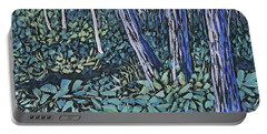 Portable Battery Charger featuring the painting Daybreak by Joanne Smoley