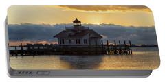 Daybreak Over Roanoke Marshes Lighthouse Portable Battery Charger