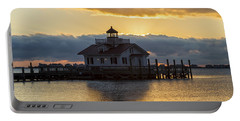 Daybreak Over Roanoke Marshes Lighthouse Portable Battery Charger