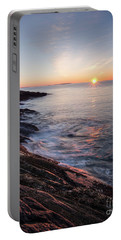Portable Battery Charger featuring the photograph Daybreak, Pemaquid Peninsula, New Harbor, Maine  -81368-81369 by John Bald