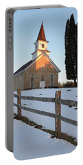 Portable Battery Charger featuring the photograph Daylight's End_vertical by Janice Adomeit