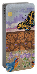 Portable Battery Charger featuring the painting Daytime by Chholing Taha