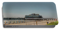 Daytona Beach Pier Pano Portable Battery Charger