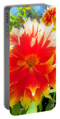 Dazzling Dahlia Portable Battery Charger by Elizabeth Dow