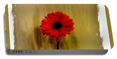 Dazzling Red Gerber Daisy Portable Battery Charger