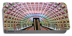 Portable Battery Charger featuring the photograph Dc Metro Architecture by Suzanne Stout