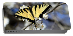 Portable Battery Charger featuring the photograph De-tailed Swallowtail by Sheila Brown