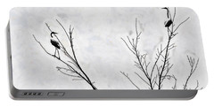 Dead Creek Cranes Portable Battery Charger by Jim Proctor