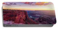 Portable Battery Charger featuring the photograph Dead Horse Point Sunset by Darren White