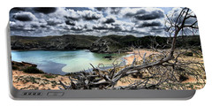 Dead Nature Under Stormy Light In Mediterranean Beach Portable Battery Charger by Pedro Cardona