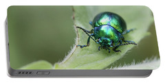 Dead-nettle Leaf Beetle - Chrysolina Fastuosa Portable Battery Charger by Jivko Nakev