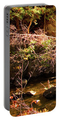 1 Of 6 Dead River Falls  Marquette Michigan Section Portable Battery Charger by Michael Bessler