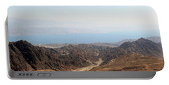 Dead Sea-israel Portable Battery Charger by Denise Moore