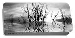Portable Battery Charger featuring the photograph Dead Trees Bw by Susan Kinney