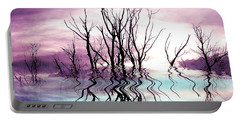 Portable Battery Charger featuring the photograph Dead Trees Colored Version by Susan Kinney
