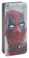 Deadpool Quotes Mosaic Portable Battery Charger by Paul Van Scott