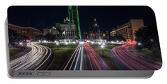 Dealey Plaza Dallas At Night Portable Battery Charger