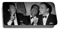 Dean Martin, Sammy Davis Jr. And Frank Sinatra Laughing Portable Battery Charger