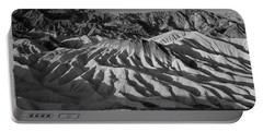 Death Valley Erosion B W Portable Battery Charger