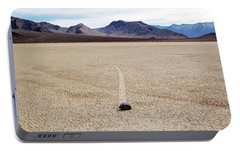 Portable Battery Charger featuring the photograph Death Valley Racetrack by Breck Bartholomew