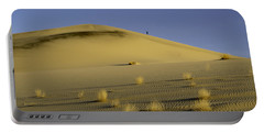 Death Valley Sand Dune At Sunset Portable Battery Charger