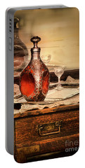 Portable Battery Charger featuring the photograph Decanter And Glass by Jill Battaglia