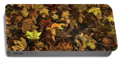 Decayed Autumn Leaves On The Ground Strong Stroke Portable Battery Charger