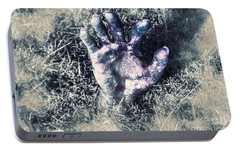 Decaying Zombie Hand Emerging From Ground Portable Battery Charger by Jorgo Photography - Wall Art Gallery