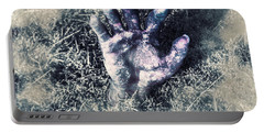 Decaying Zombie Hand Emerging From Ground Portable Battery Charger