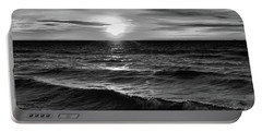 December 20-2016 Sunrise At Oro Station Bw  Portable Battery Charger by Lyle Crump