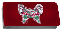 December Butterfly Portable Battery Charger