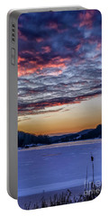 December Dawn On The Lake Portable Battery Charger