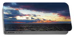 December Sunset, Wolfe Island, Ca. View From Tibbetts Point Lighthouse Portable Battery Charger