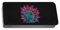Portable Battery Charger featuring the digital art Deco Anemone by Adria Trail