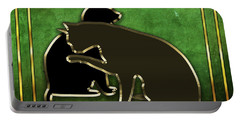 Deco Cats - Emerald Portable Battery Charger