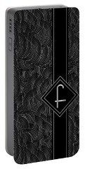 Deco Jazz Swing Monogram ...letter F Portable Battery Charger