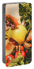 Decorated Organic Vegetables Portable Battery Charger