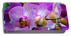Portable Battery Charger featuring the photograph Decorative Fuschia Orchid Still Life by Mas Art Studio