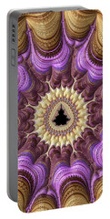 Portable Battery Charger featuring the photograph Decorative Luxe Mandelbrot Fractal Purple Gold by Matthias Hauser