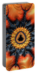 Portable Battery Charger featuring the digital art Decorative Mandelbrot Set Warm Tones by Matthias Hauser