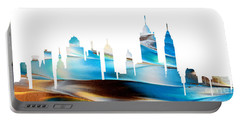 Decorative Skyline Abstract New York P1015a Portable Battery Charger